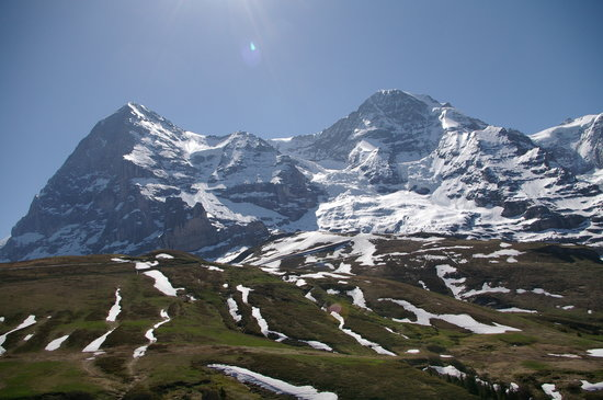 Bernese Oberland, İsviçre: The Eiger, the Mönch and the Jungfrau