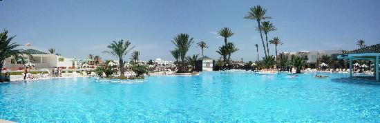 Djerba Holiday Beach: Vue de la piscine.