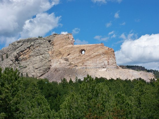 View of Crazy Horse from veranda of museum