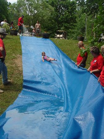 Yogi in the Smokies: Slip-n-slide in Boo Boo's Meadow