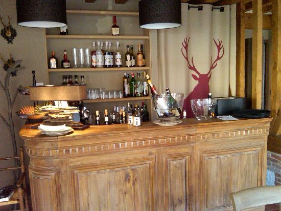 Le Bistrot Du Grand Cerf : Bar at Le Grand Cerf