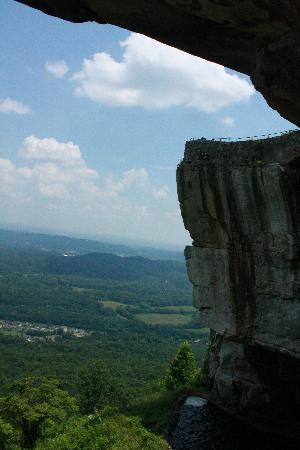 """Rock City: Part of the view at """"Lover's Leap"""""""