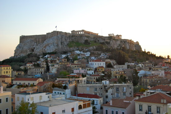 Central Athens Hotel: View from the rooftop deck