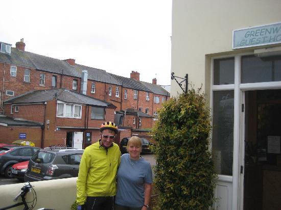 Greenwood Guest House : With Sharon, bike shop beyond