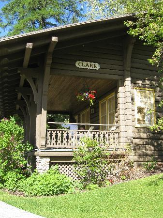 Belton Chalet: A side view of one of the cottages