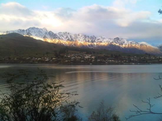 "Villa Del Lago: View from room "" The Remarkables"" mtns"