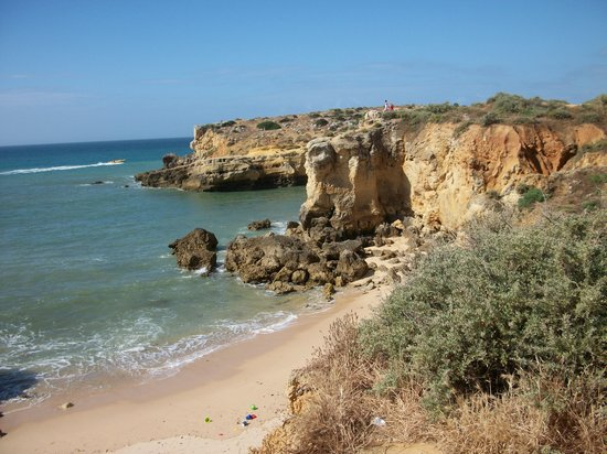 Albufeira, Portugal: Local beach