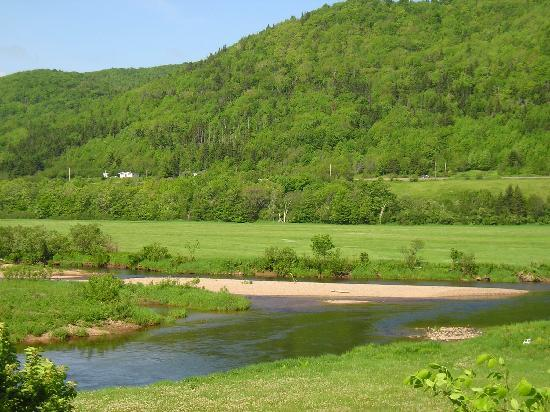Whale Cove Summer Village: River fishing in the Margaree