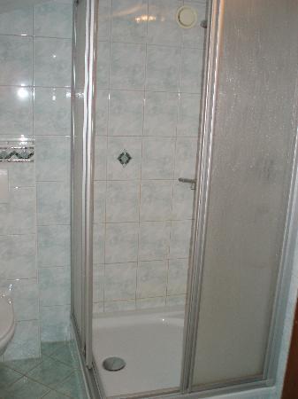 Apart-Hotel-Garni Bäckerei Strasser: Bathroom shower