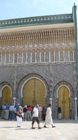 Fes, Morocco: Main portal of Palais Royal