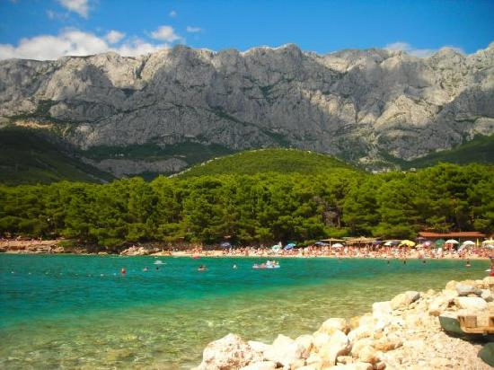 Makarska, Hırvatistan: la spiaggia