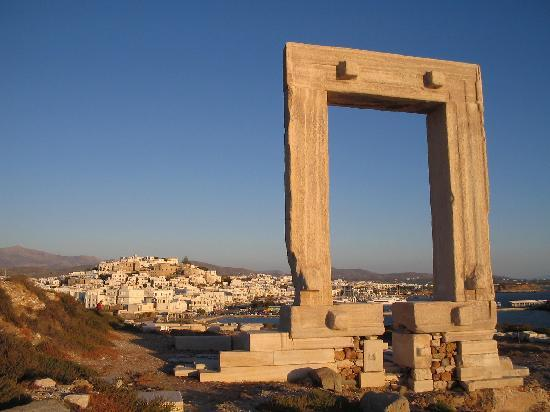 Naxos by, Hellas: Naxos Town & Port from Palatia