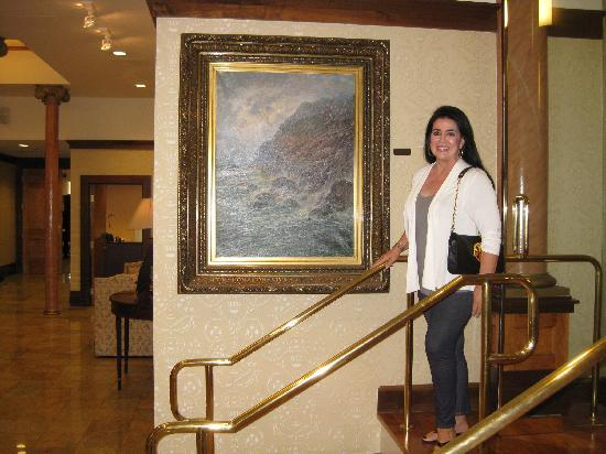 Hotel Providence: By a beautiful painting in the lobby