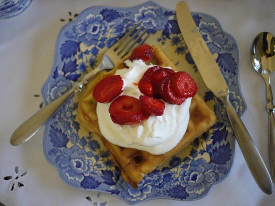 Yosemite Springs: waffles for breakfast
