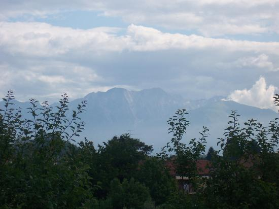 Cjase di Roc: view from balcony to the Alps
