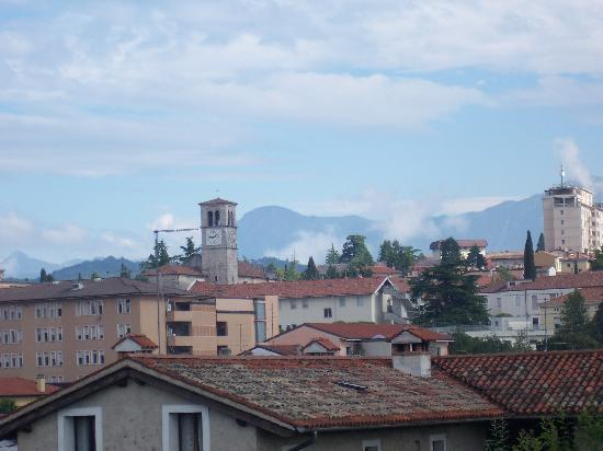 Cjase di Roc: view from balcony across the village