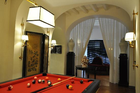Hotel Cellai: billiard room