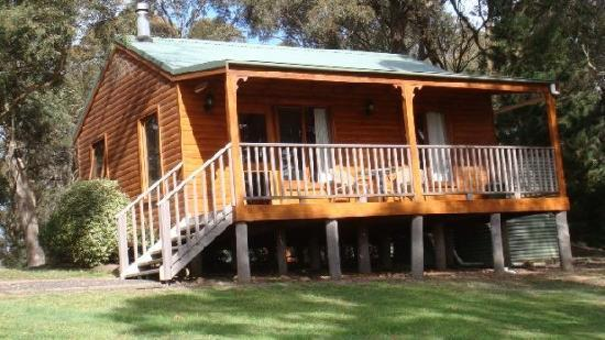 Melaleuca Mountain Chalets: Our accommodation at Melaleuca Chalets