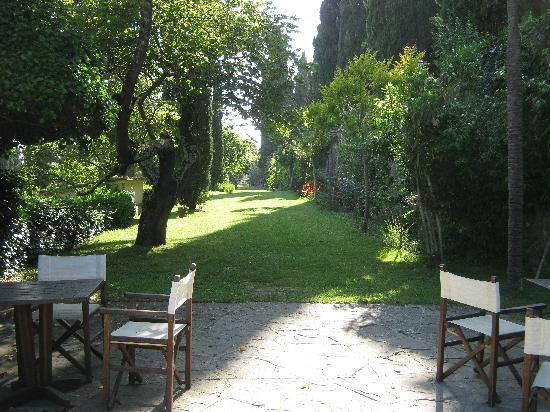 Castello di Montegufoni : View of grounds from edge of pool