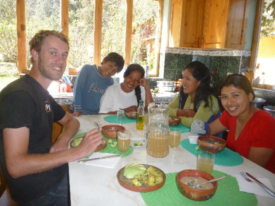 El Huerto Paraiso Sacred Valley Lodge: Comer=placer