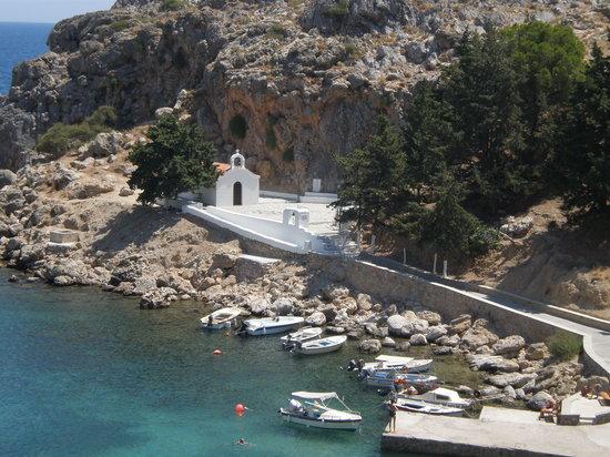 Villa Galini Lindos: st paul's chapel