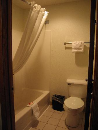 Super 8 Charles City: Bathroom, room 203