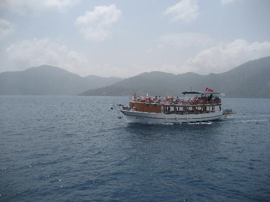 Sarigerme, Turkey: The type of boat we were on...lots of room to sun tan