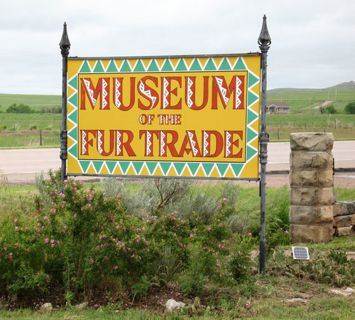 Chadron, NE: Sign from Road