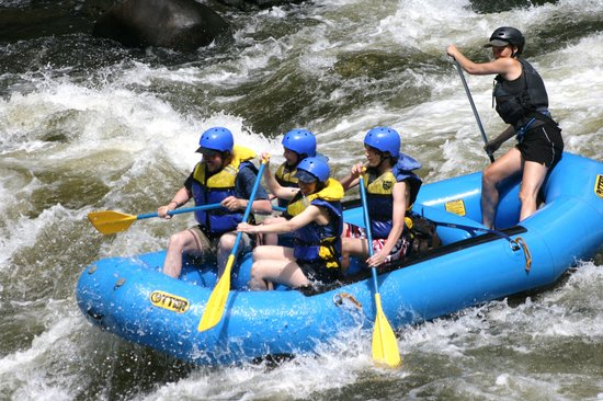 Appalachian Outdoors Whitewater Rafting: You can see who really does most of the work! :-)
