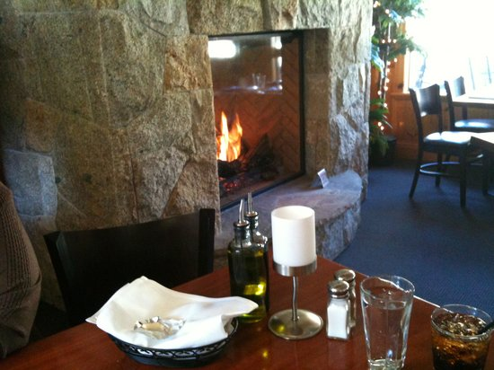 River Grill: The fireplace