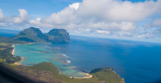Arajilla Retreat - Lord Howe Island: Arial view of heaven