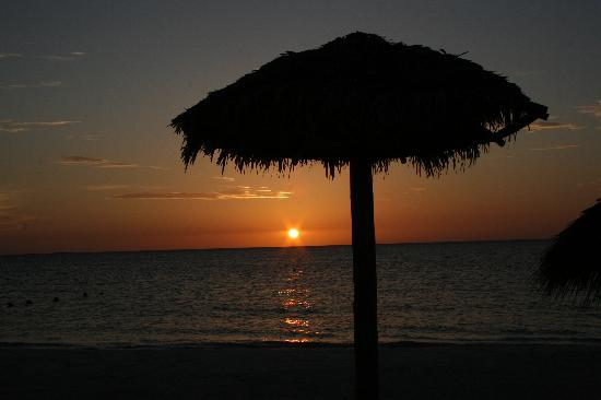 Iberostar Ensenachos: sunset on beach near royal suites section