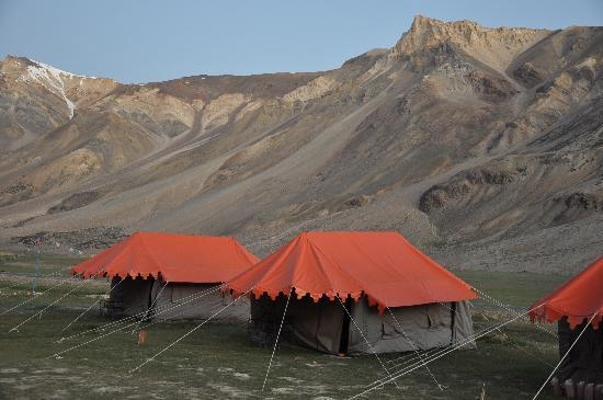 ‪‪Hotel Holiday Ladakh‬: Camping site at Sarchu on Manali-Leh Road‬
