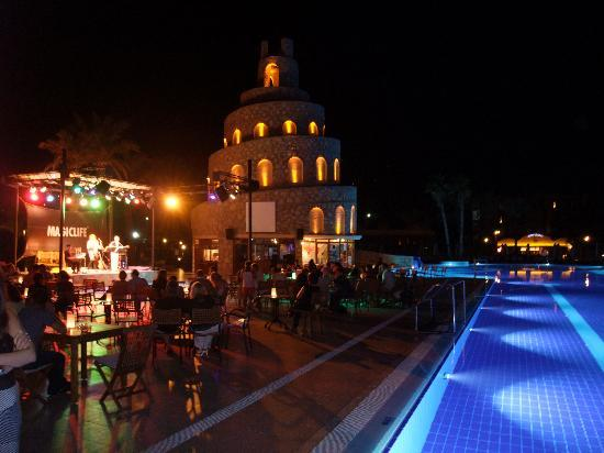 Bodrum Imperial: Pool at night with Entertainment