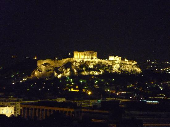 Athènes, Grèce : Parthenon at night