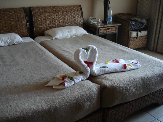 Jaz Lamaya Resort: Unser Zimmer, Handtuchfiguren