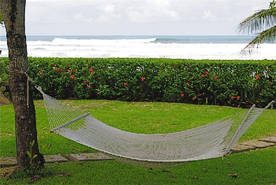 Hotel Casa Azul: hammock between pool and private beach access
