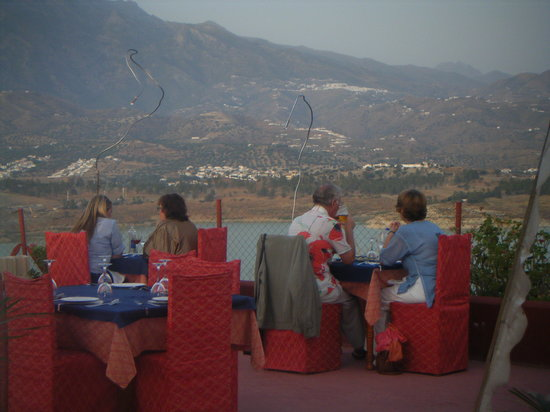 Виньуэла, Испания: terraza del restaurante