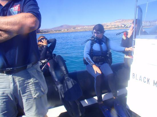 Deep Blue Diving Base: You are then taken out on with your group to your drop off point.