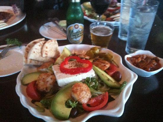 Olympia the Grill at Pier 21: Greek Salad with Scallops