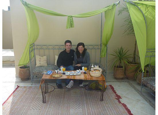 Riad Safir : Breakfast on the terrace
