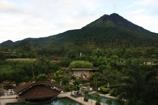 The Royal Corin Thermal Water Spa & Resort: The view of the volcano from our room.
