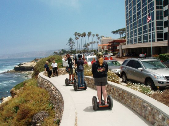 We Love Tourists: Segwaying along the coast next to ocean in La Jolla