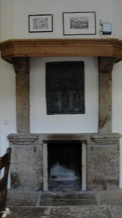Hoeker Hof: Fireplace in guest gouse