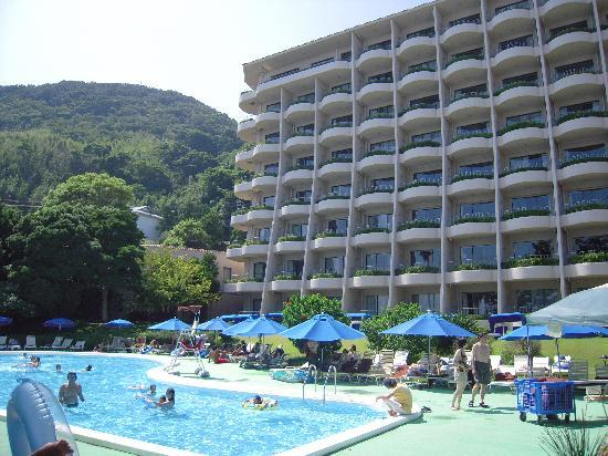 Izu-Imaihama Tokyu Hotel: プール側からのホテルの景観です。目の前が、「今井浜}!