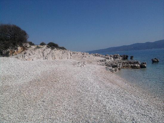 Rabac, كرواتيا: Der Strand