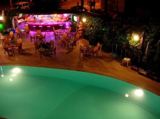 Orkide Hotel : The pool at night