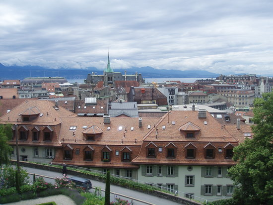 Lausanne, Zwitserland: View from the Cathedral