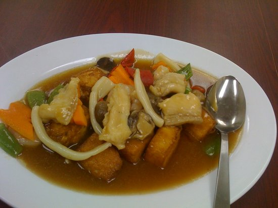 Reem Cafe : Home made bean curd with seafood