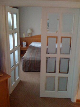 Top Hotel Meerane: Blick ins Schlafzimmer